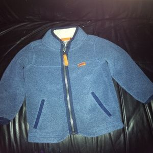 Boys Carters blue fleece zip jacket size 18 months